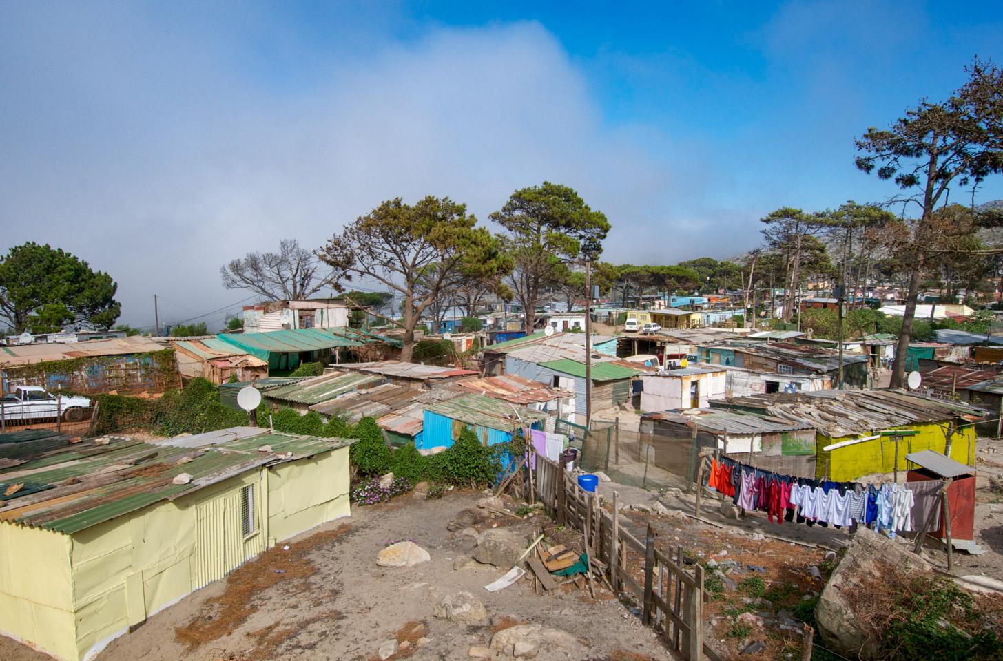Een township in Kaapstad