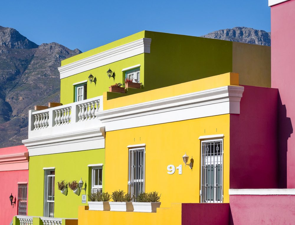 Kleurrijke huizen van Bo-Kaap in Kaapstad