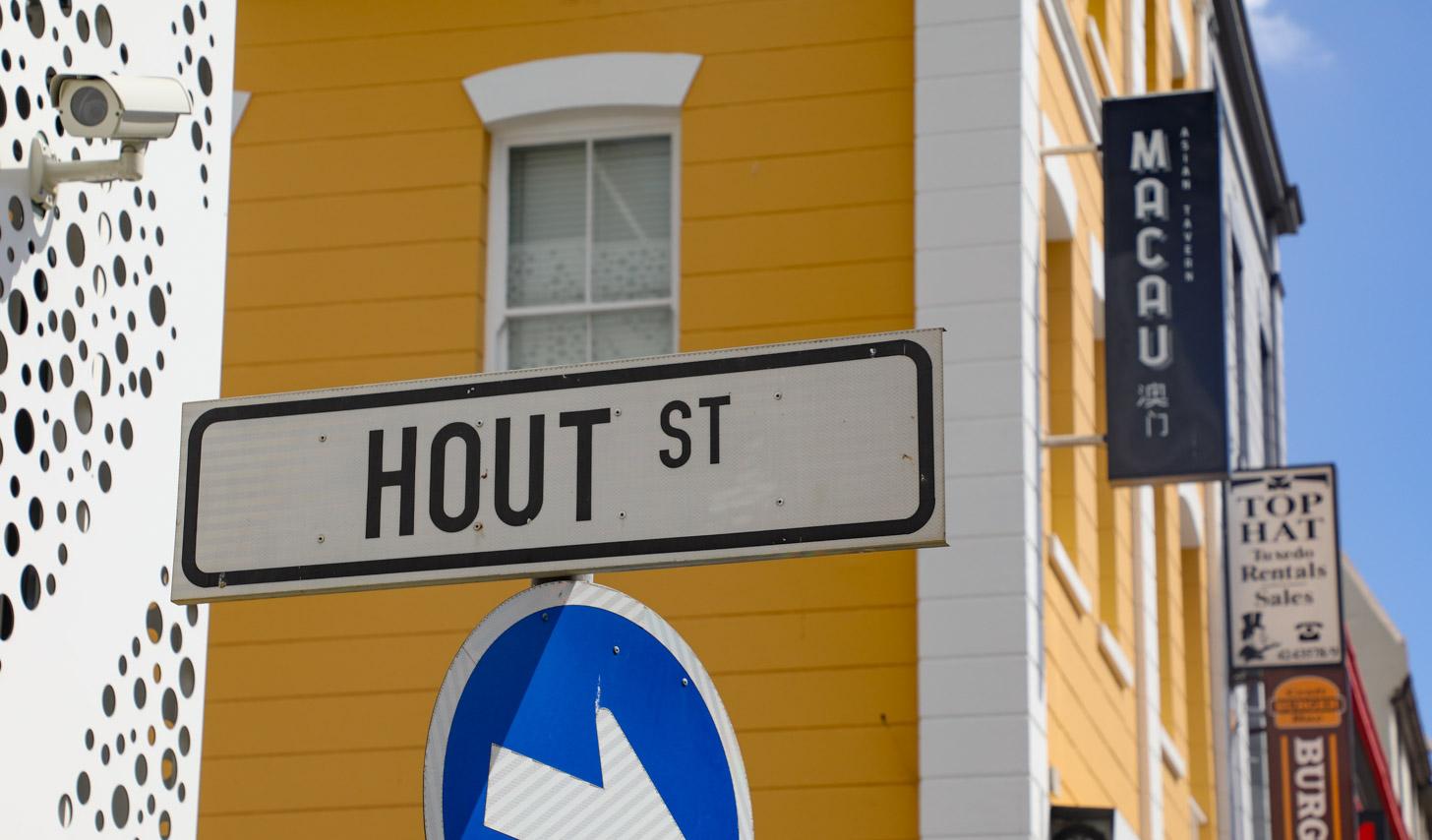 Hout Street in Kaapstad