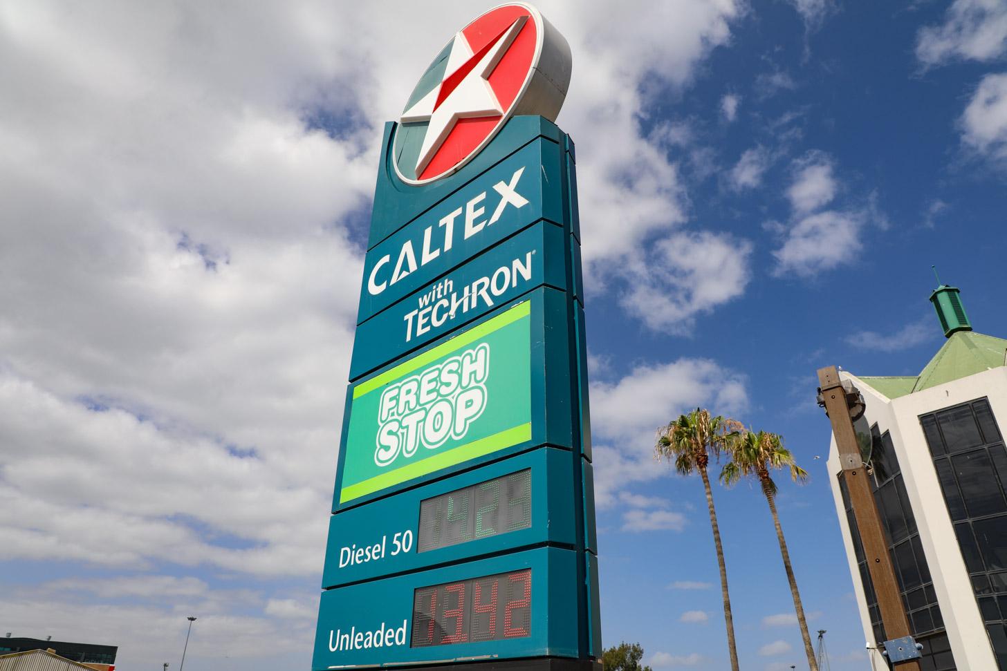 Benzine is goedkoop in Kaapstad