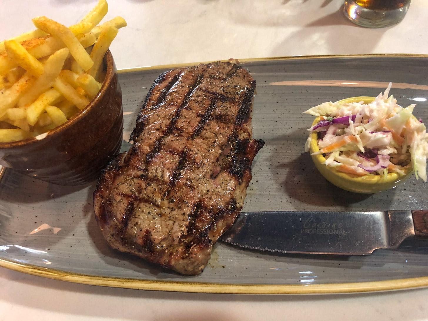Een goede steak is altijd binnen handbereik in Kaapstad