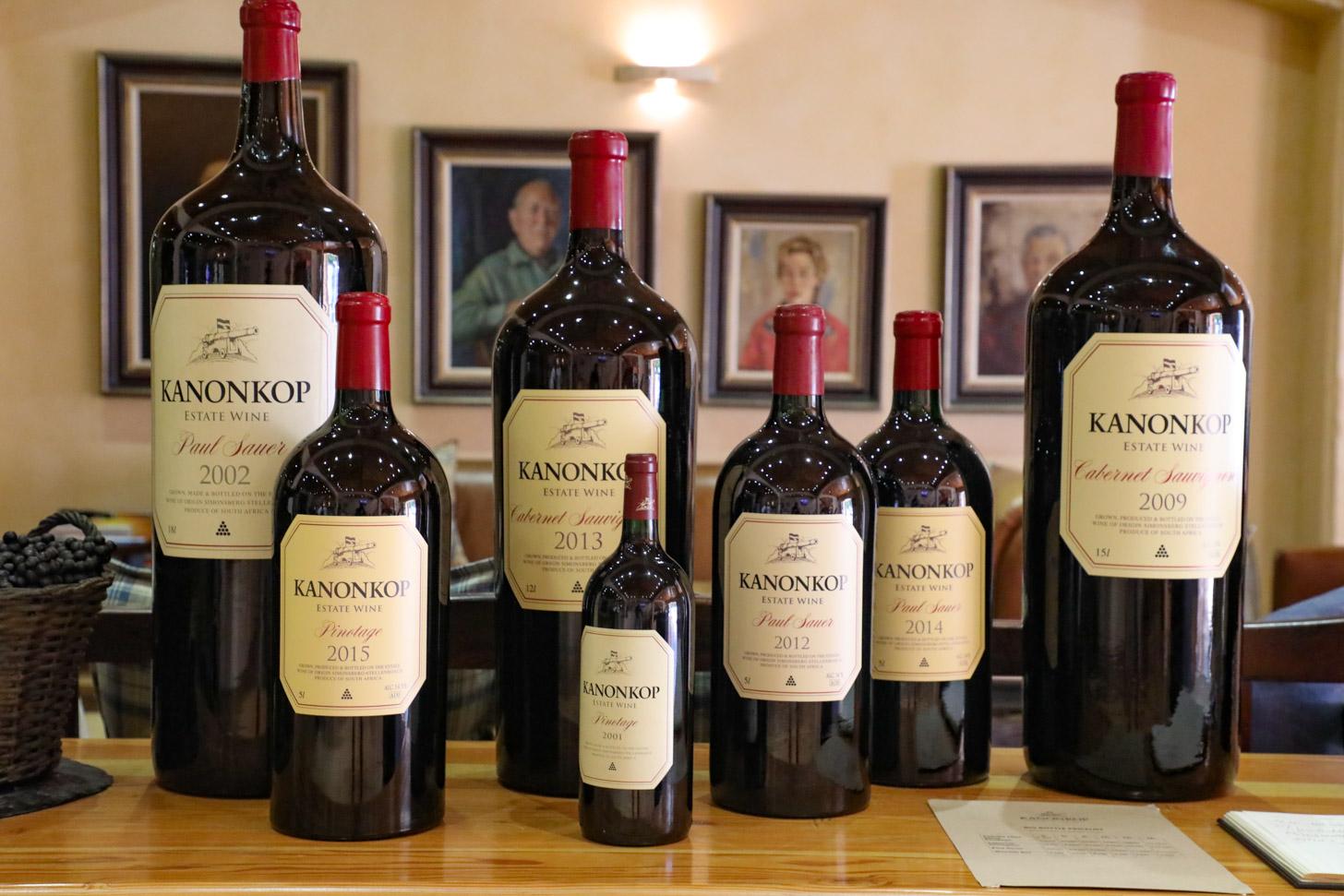 De wijnen van Kanonkop zijn onovertroffen.