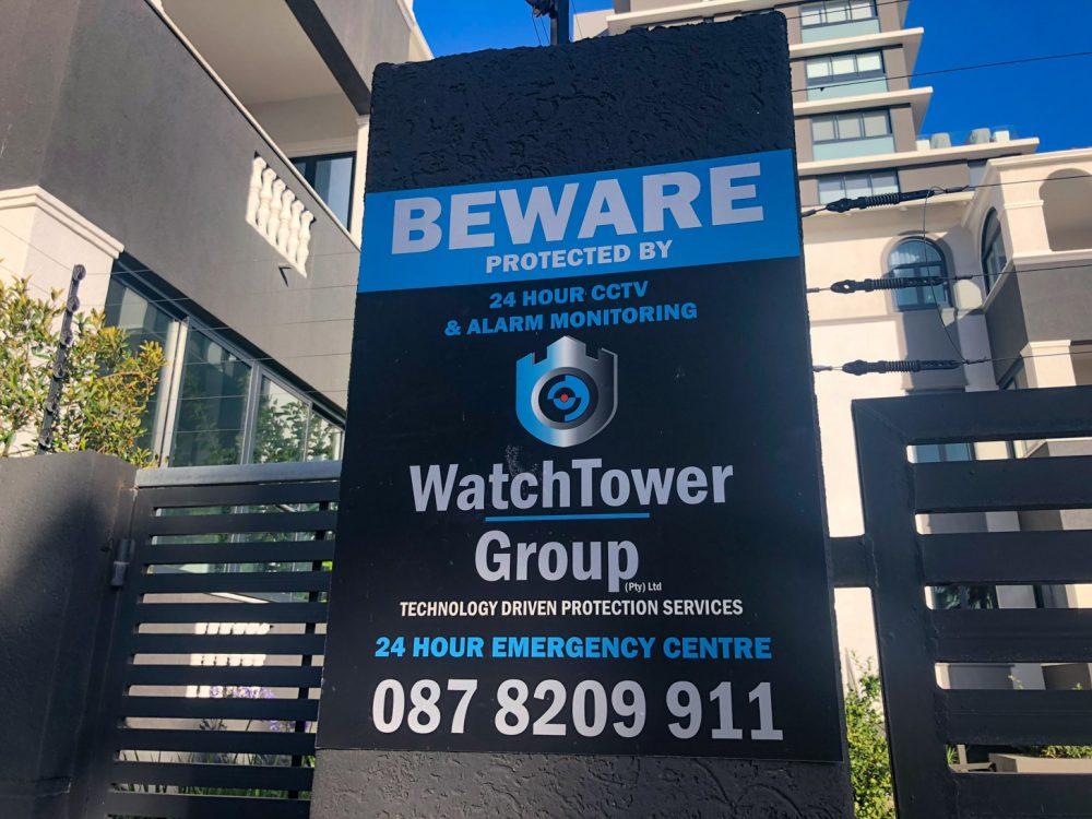 Bewaking en hekken zijn nodig in Kaapstad